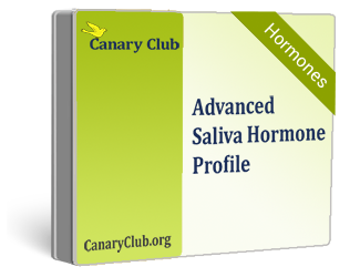 Advanced Saliva Hormone Test - at home testing for estrogen, progesterone, testosterone, cortisol and DHEA-S (ZRT)